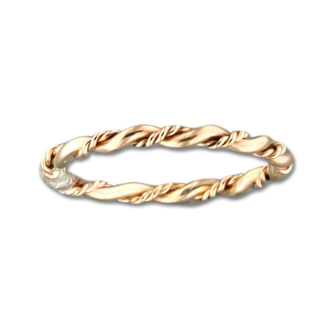 Fancy Twist Ring - Gold Filled