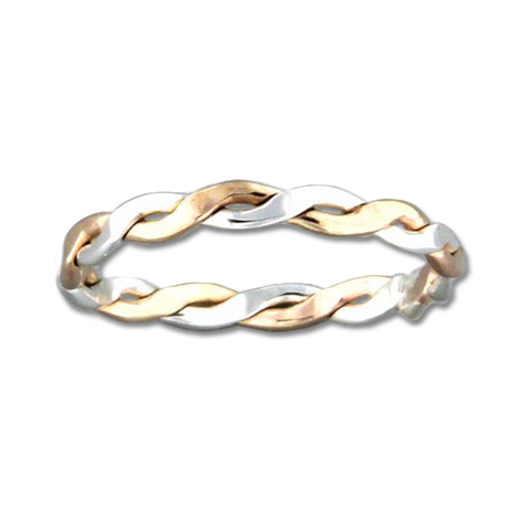 Braid 2.3mm Ring - Mix Metals