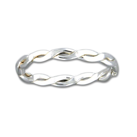 Braid 2.3mm Ring - Sterling Silver