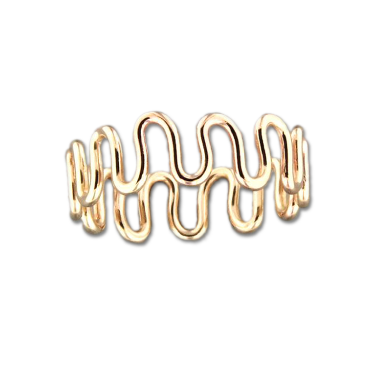 Zig Zag Ring - Gold Filled