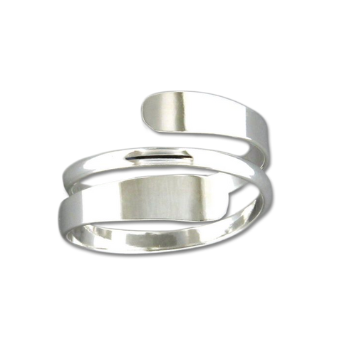 Double Bypass Ring - Sterling Silver