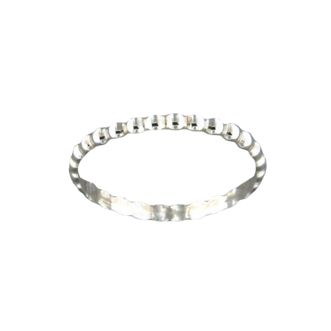 Half Round Bead Ring - Sterling Silver