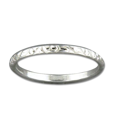 Pattern Ring Thin - Sterling Silver