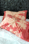 Coral and Cream Tie Dye Pillowcase Set