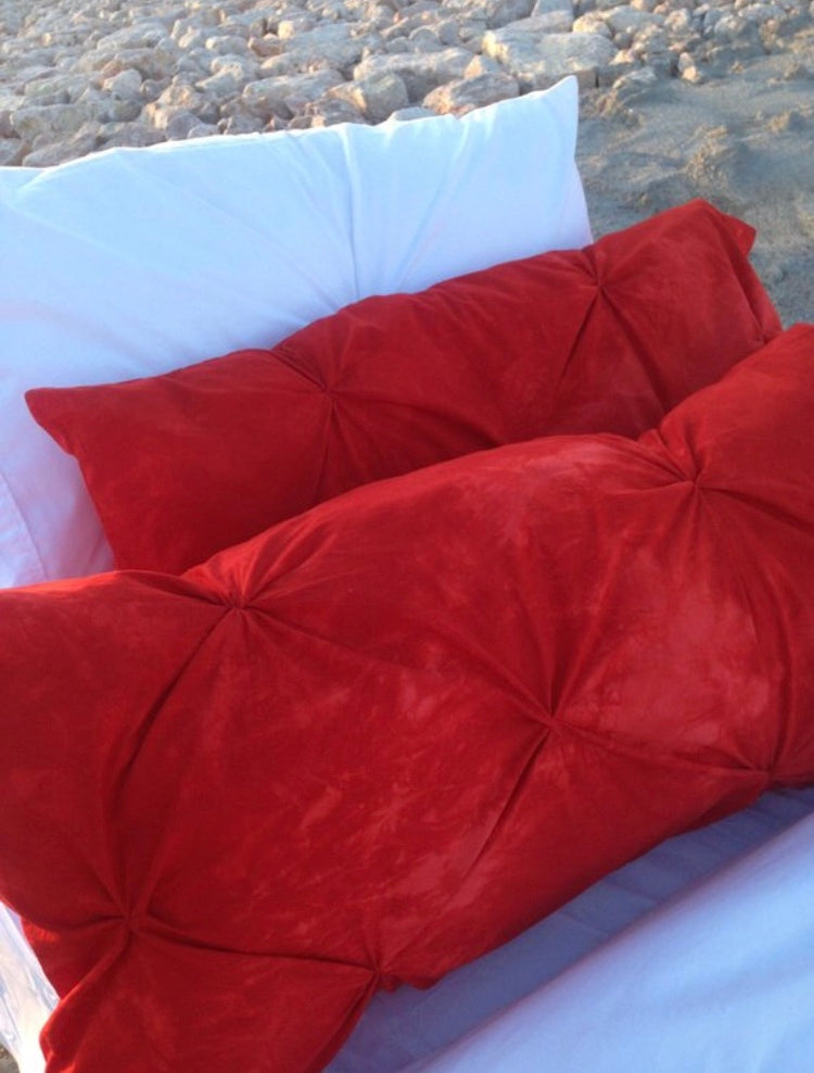 On-Fire Coral Pillowcase Duo
