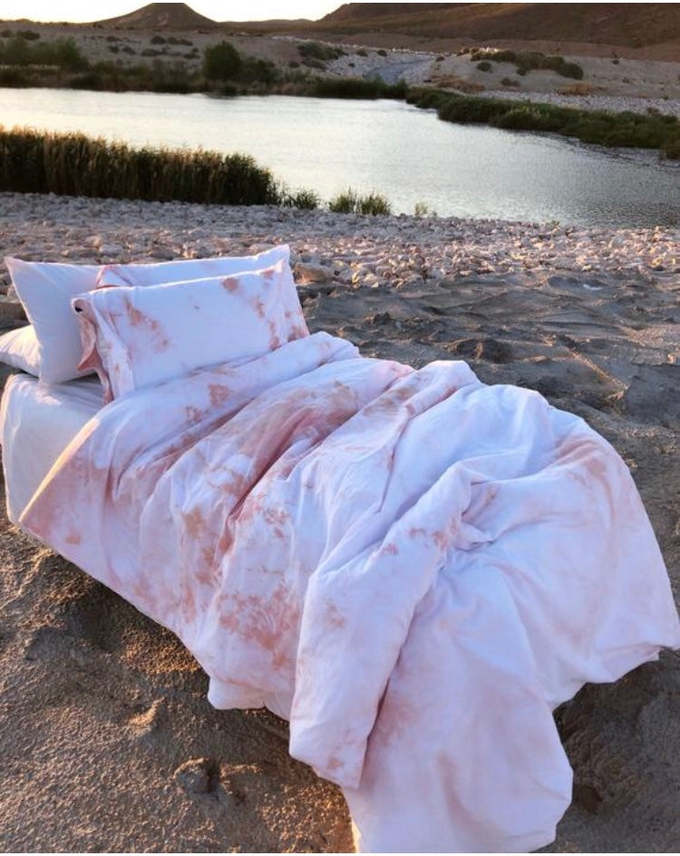 Blush & White Duvet Set