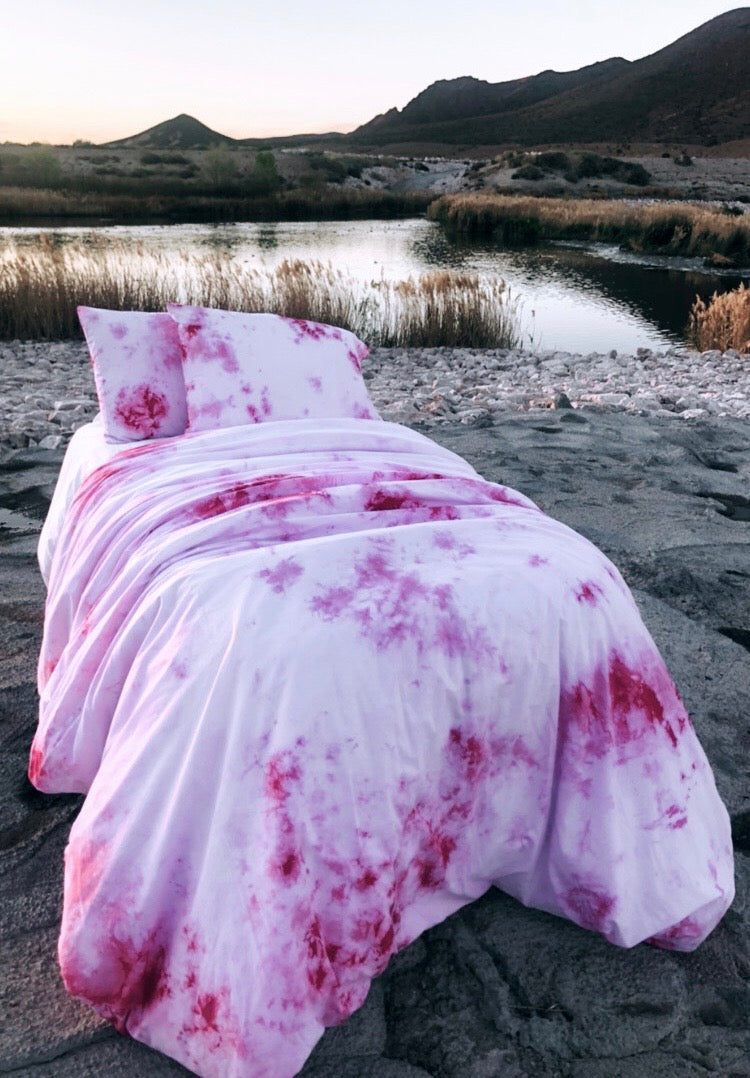 Pink Splash Duvet Set