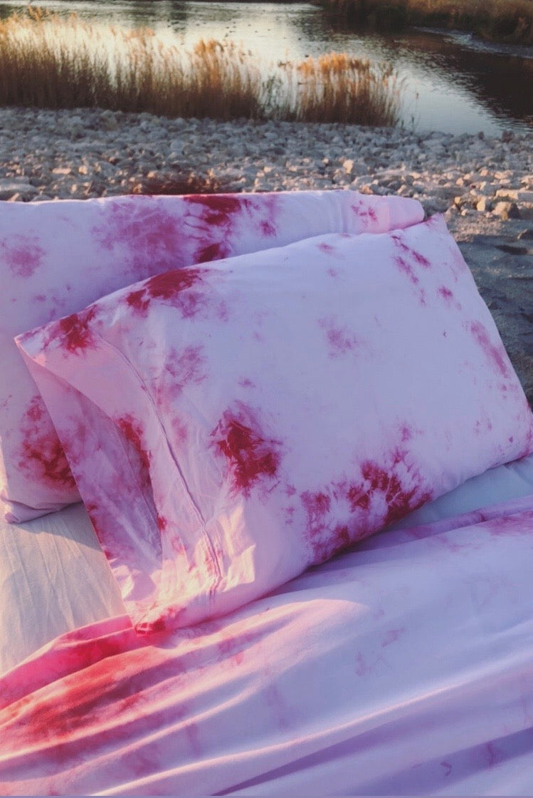 Pink Splash Pillowcases
