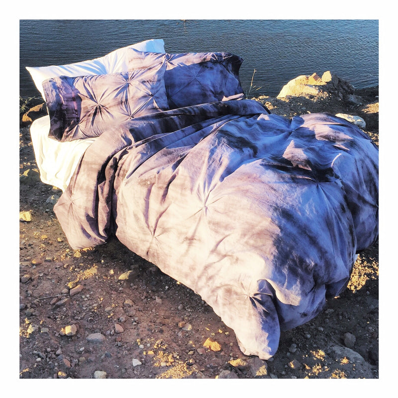 Bohemian Purple Pin Tuck Duvet Set *FREE SHIPPING