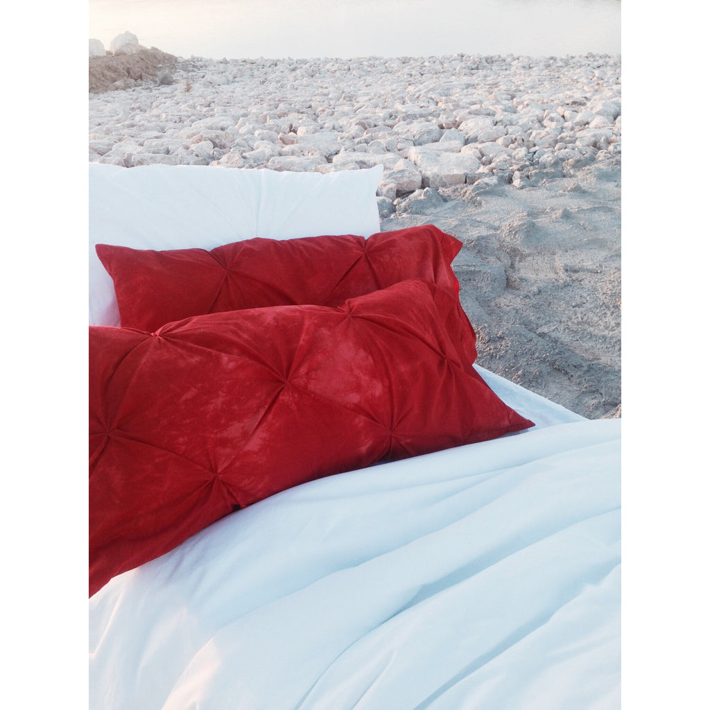 Bohemian White and Coral Duvet Set *FREE SHIPPING