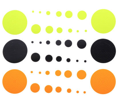 Specialty Super Circles & Dots (Black/Orange/Yellow)