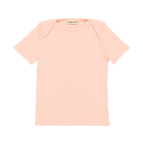 Ribbed Slim Tee - Petal