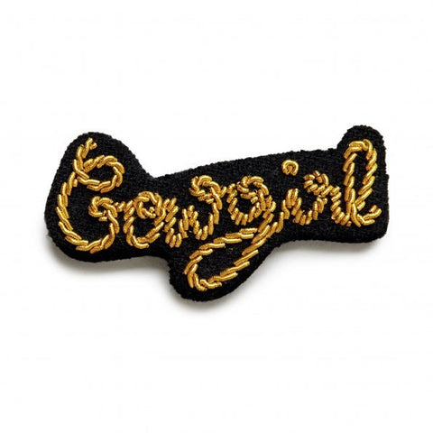 Embroidered Pin - Cowgirl