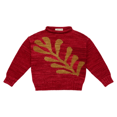 Leaves Pullover - Berry