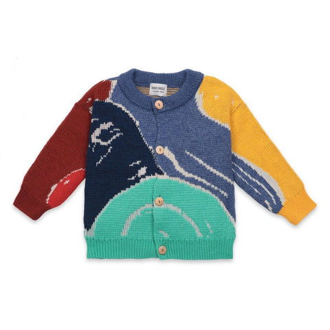 Multi Color Abstractions Cardigan