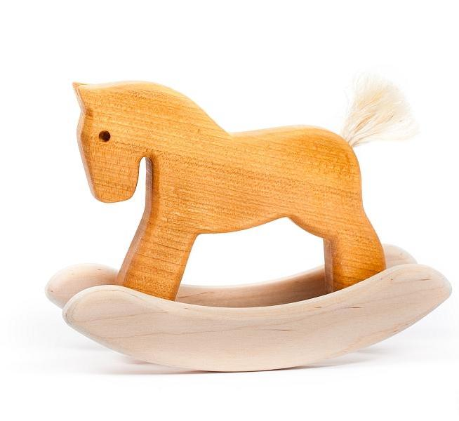 Miniature Rocking Horse - Natural