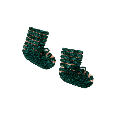 Accordion Pleat Booties - Laurel