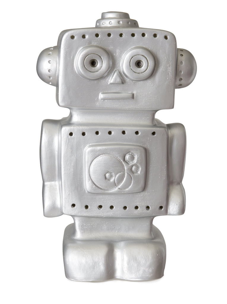 Robot Night Light - Silver