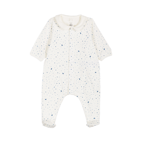 Collared Star Print Footie