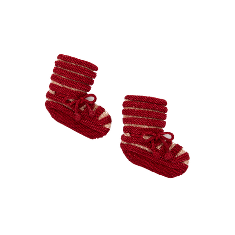 Accordion Pleat Booties - Berry