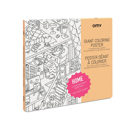 Giant Coloring Poster - Home