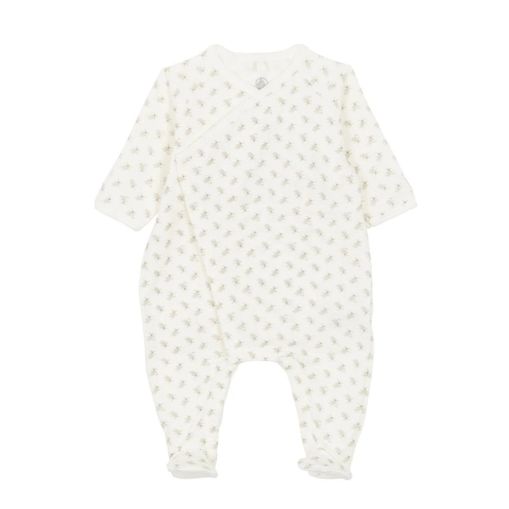 Side Snap Bunny Print Footie
