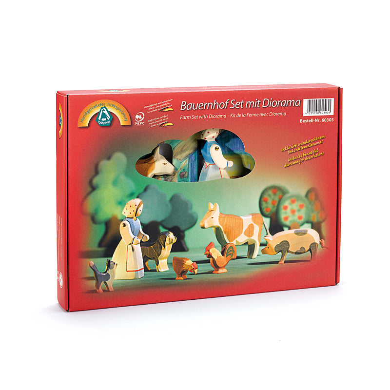 Farm Set with Diorama - 8pcs