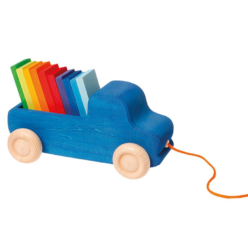 Blue Pull Along Truck Toy