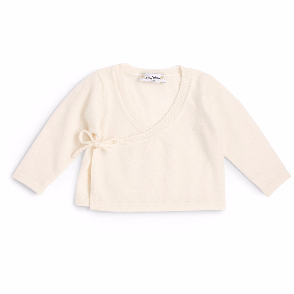Camille Wrapover Top - Cream