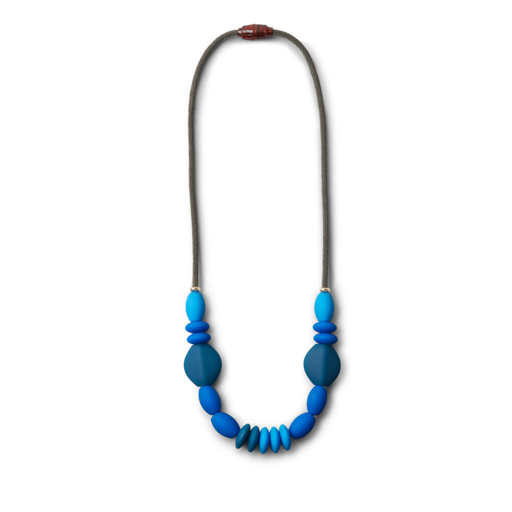 Teething Necklace - Blue