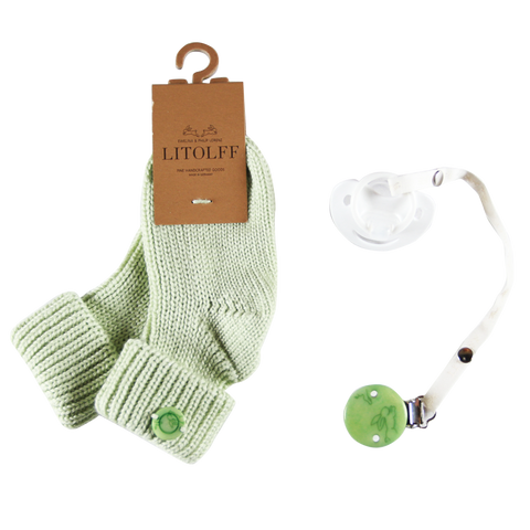 Dummy, Clip, Socks Box - Green