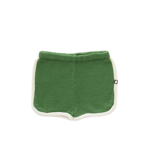 70's Shorts - White/Green