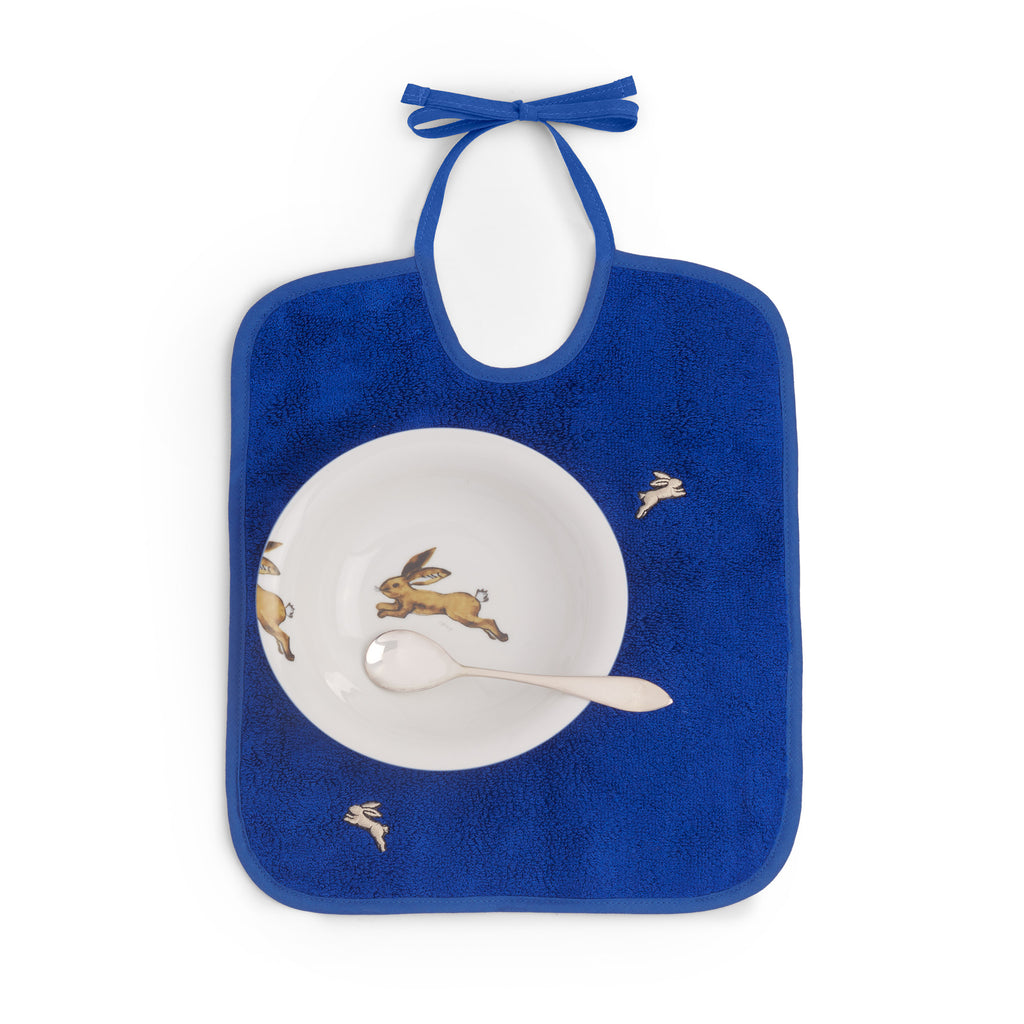 Spoon, Bowl, Bib Set - Blue