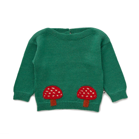 Boatneck Sweater - Grass Green