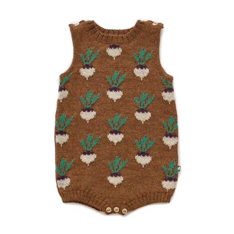 Double Tank Onesie - Hazelnut/Turnip