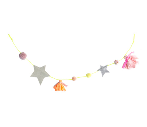 Large Star Tassel Garland - Opal