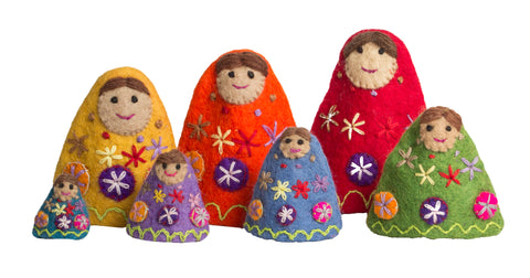 Rainbow Stackable Babushkas