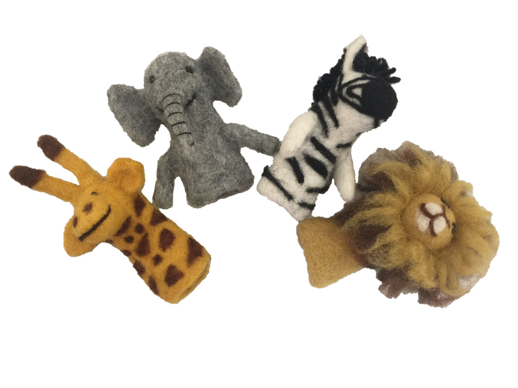 African Animal Finger Puppets