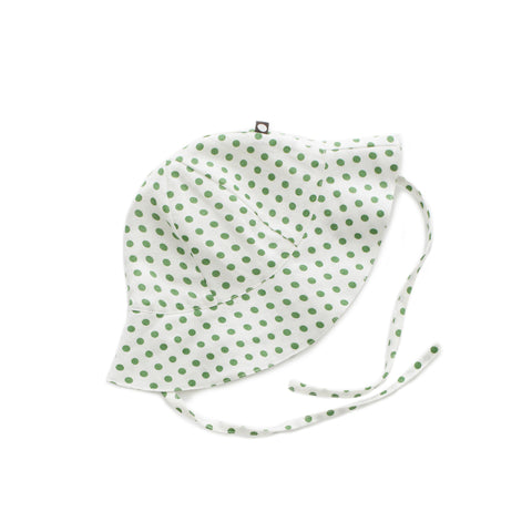 Baby Hat - Green Dots