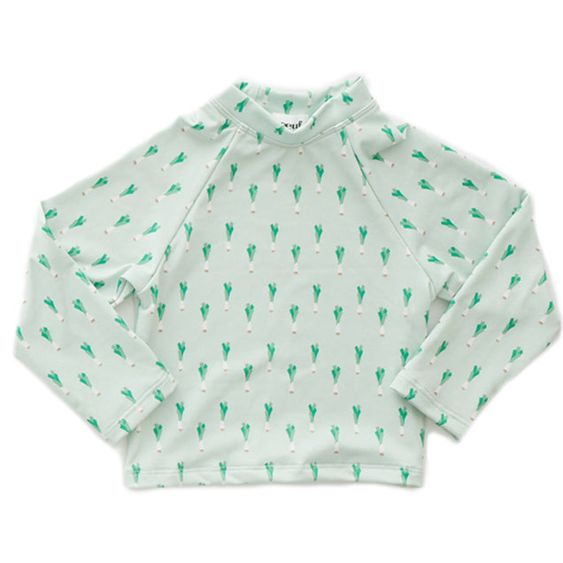 Rash Guard - Leek Print