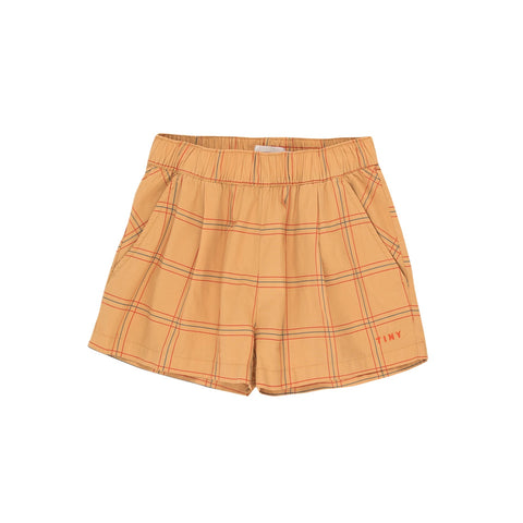 Pleated Check Short - Toffee