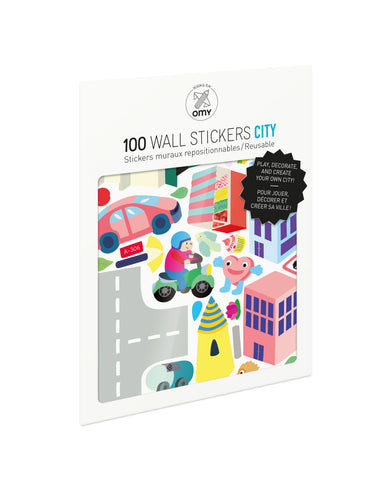 Removable Wall Stickers - City