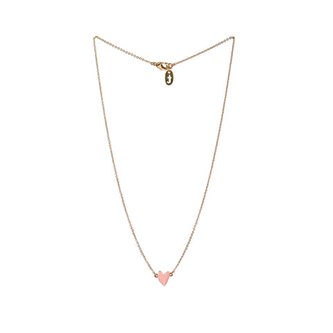 Peach Heart Necklace