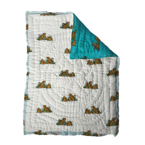 Quilted Play Blanket - Tiger