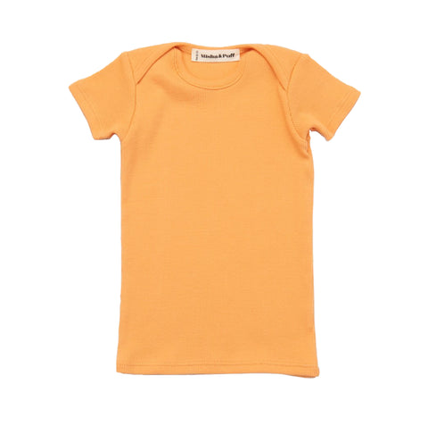 Ribbed Slim Tee - Apricot