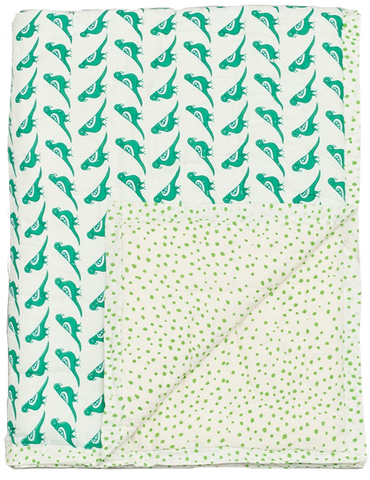 Mini Play Quilt - Green Birds