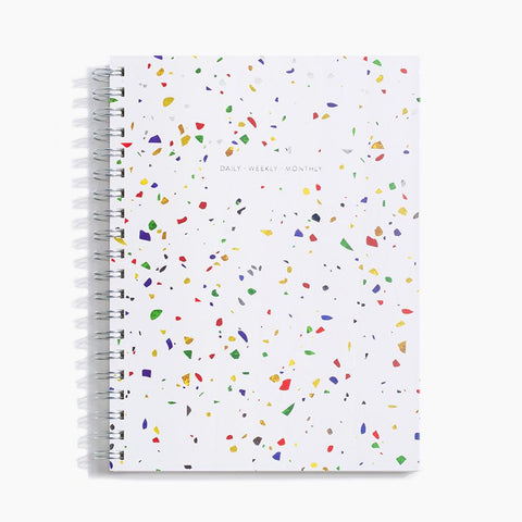 Daily Weekly Monthly Planner - Terrazzo