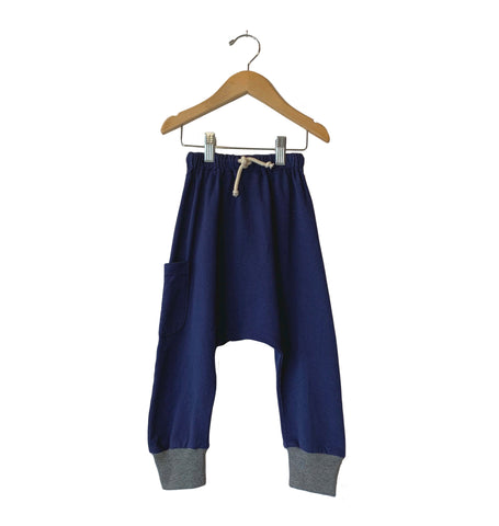 Knit Harem Pant - Heather Navy