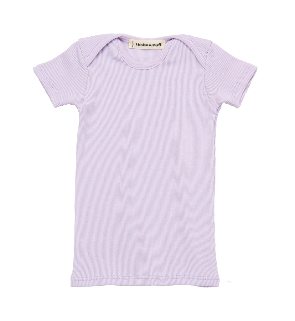 Ribbed Slim Tee - Lavender