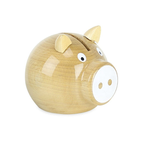 Pig Money Box - Natural/White